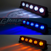 GWOLVES 5mode Aluminum flash Strobe brightness LED Light 1/10 1/8 1/5 Traxxas HSP HPI Monster Short Truck Rally Crawler rc parts