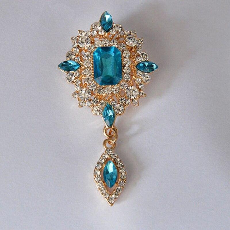 MZC Vintage πράσινο κρύσταλλο νερό Drop Broach - Κοσμήματα μόδας - Φωτογραφία 4