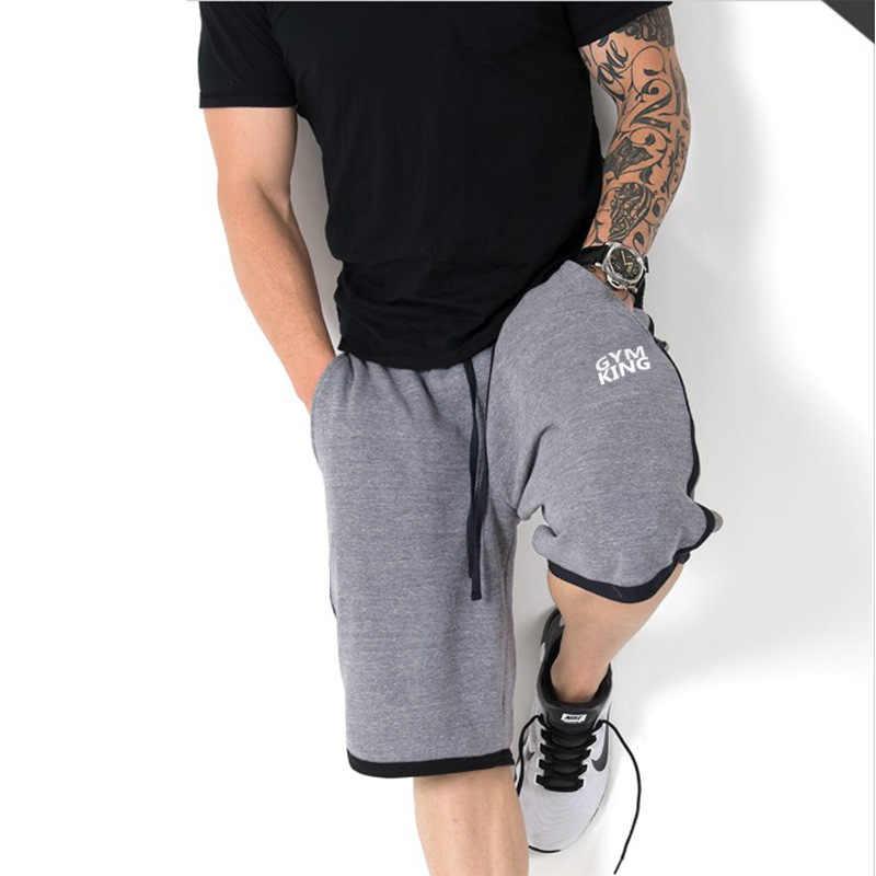 Primavera Verão 2019 Dos Homens Novos Esportes Academias Casual Estiramento Solto Suor Absorção De Umidade Confortável Shorts De Treino