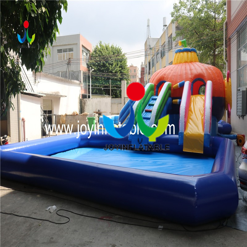 inflatable slide with swimming pool4