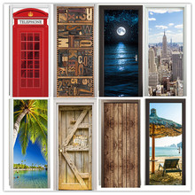 77×200 см 3D английский письмо дверь Стикеры для Гостиная Спальня поделки ПВХ самоклеющиеся обои водоотталкивающие обои наклейка
