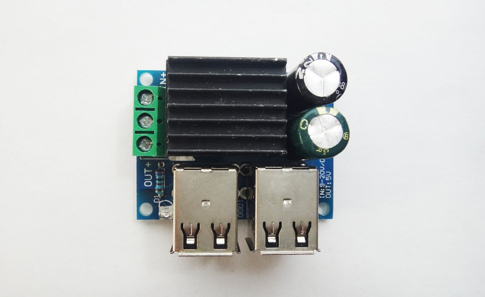 DC 12V 24V 40V to 5V Step Down USB Step-down Power Module MP3 IPAD PHONE прикуриватель в авто oem 2 usb 12v 24v dc ipad iphone 4g ipod 2a 1a htc mp3 mp4 ect