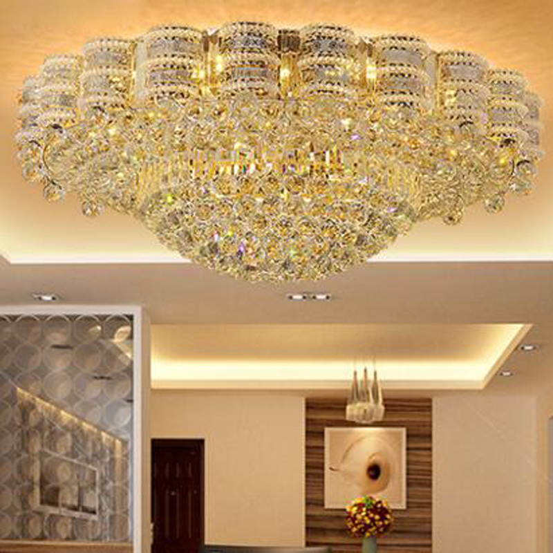 Lighting S Gold Round Crystal Lamp