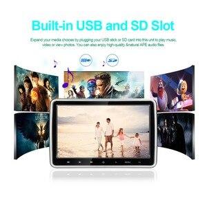 """Image 2 - 10.1 """"1024*600 자동차 머리 받침 모니터 DVD 비디오 플레이어 휴대용 자동차 TV 모니터 USB, SD, HDMI, IR, FM TFT LCD 터치 버튼 게임"""
