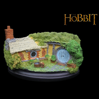 높은 품질 제왕 호빗 구멍 35 백숏 행 수지 컬러 그린 동상 조각 Recast Hobbiton 아이 선물 아이 생일