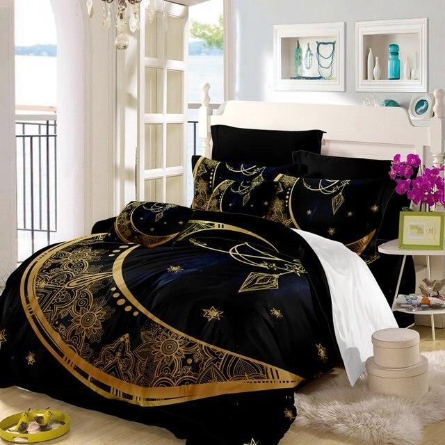 boho fabric duvet cover moon mandala galaxy bed set single bed cover