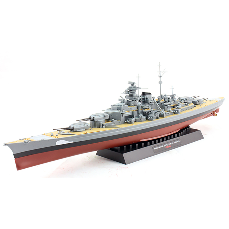 2 Styles World War Two Classic Battleship Missouri Bismarck 1/700 Scale Assembly Model Building Kits