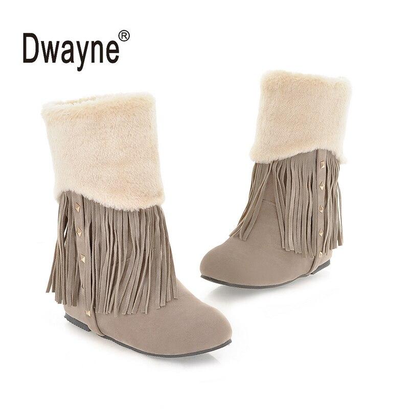 Botas Medio De Nieve Beige Femininas amarillo 51 Las Grande gris Mujeres 7299 Mitad Tamaño Zapatos Invierno Otoño Mujer Para qBE0t