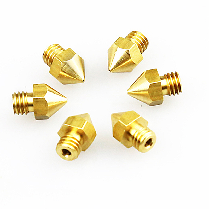 Anet 5pcs 0.2 0.3 0.4 0.5mm 3D Printer Nozzles For A6 A8 MK8 3d Printer Parts Accessories Extruder Hotend Reprap Nozzle 3d