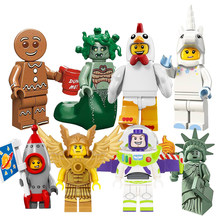 Single sale Legoings Bricks Classic Action Figures Buzz Lightyear Gingerbread Man Friends Building Blocks Kids Toys for Children(China)