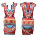 2016 New Summer Women Short Sleeve Indian Dresses Dashiki Dress Patchwork  Bodycon O Neck Mini Dress Plus Size S-XL Vestidos