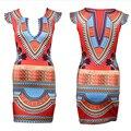 2016 New Summer Women Short Sleeve Indian Dresses Dashiki Dress Patchwork  Bodycon O Neck Mini Dress Plus Size S-XL Vestidos