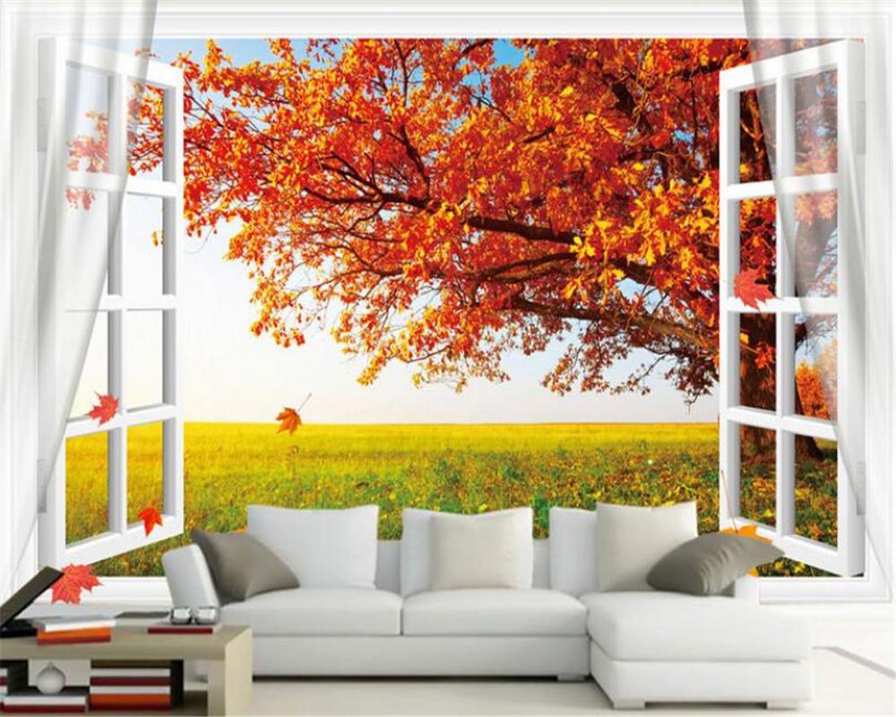 beibehang 3d wallpaper level picture 3d stereo white window outside