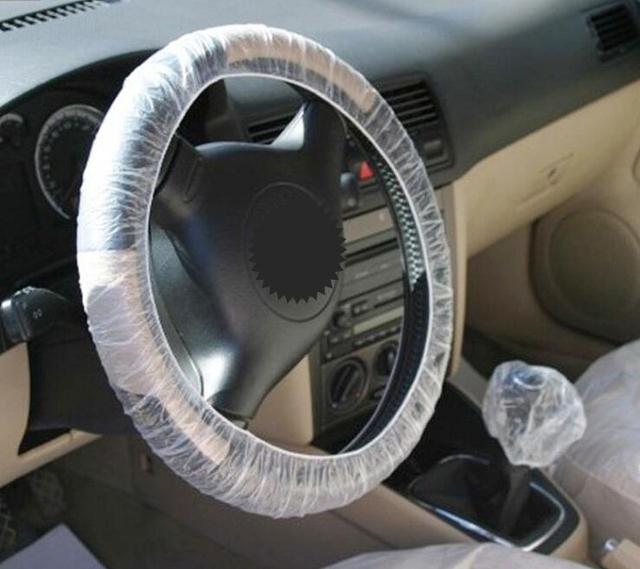 Rete desechable coche volante cubierta de plástico transparente Universal impermeable anti-polvo para reparación, etc.