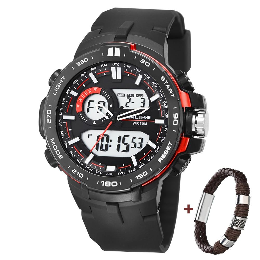2019 Nueva Marca ALIKE Casual Reloj Hombre G Estilo Impermeable - Relojes para hombres - foto 2