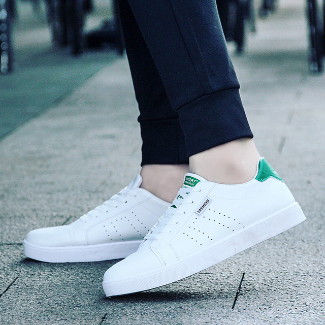 The male summer shoes man out of white shoes sports leather sneakers Korean  boys shoes arder