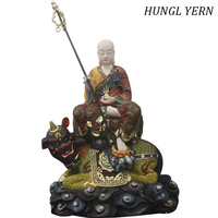 61cm Ksitigarbha budas statues Sculpture custom estatua Buddha statue handmade chinese style Craft Home decor Colored drawing