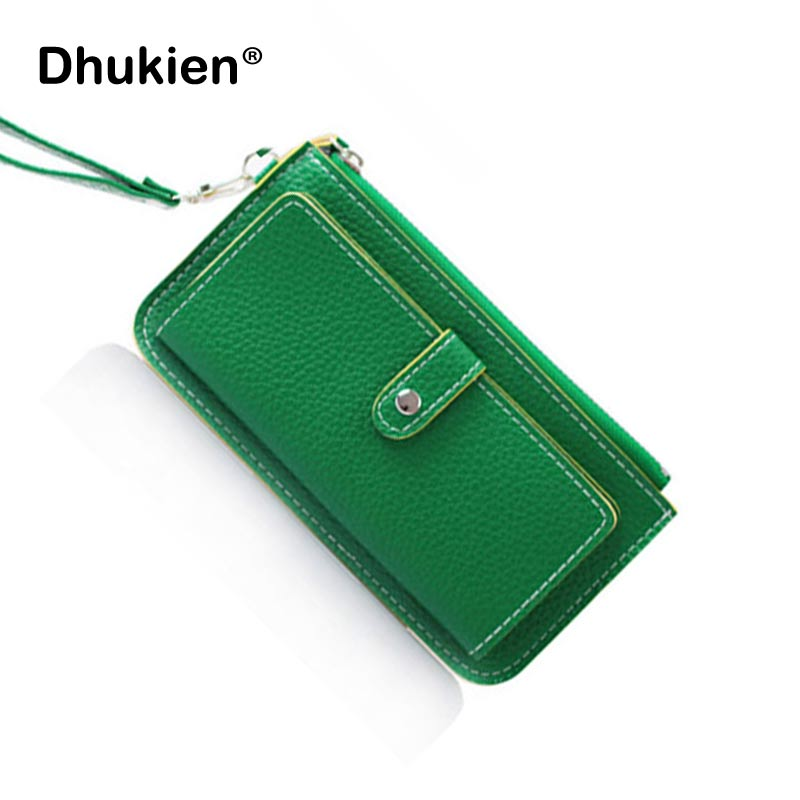 New arrival 2017 vintage large capacity women's wallet big screen mobile phone bag coin purse womens wristlets OBEW15021