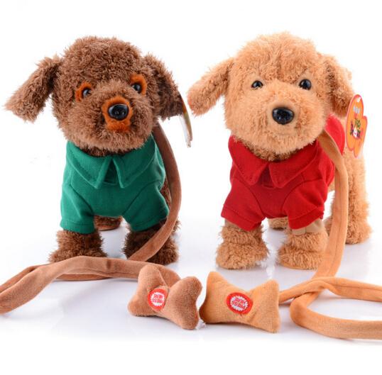 Novo animal de estimação eletrônico brinquedos cantando caminhada cão de pelúcia cão eletrônico brinquedos interativos brinquedos infantis presentes