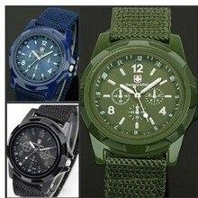 4 цвета Быстрая 10 шт./партия модные Gemius Army Racing Force военные спортивные мужские часы с тканевым ремешком кварцевые часы