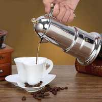 hot sale 200Ml 4 Cups Stainless Steel Stove Coffee Pot Moka Coffee Maker Teapot Filter Automatic Coffee Machine Espresso Machine