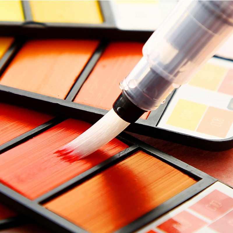 Juego de pintura de acuarela sólida de Color 18/25/33/42 con pincel de agua plegable en forma de abanico pintura portátil de Color agua de viaje