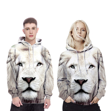 Cosplay Hoodies 3D three-dimensional printed hedging men hooded sweater lion pattern couple costumes