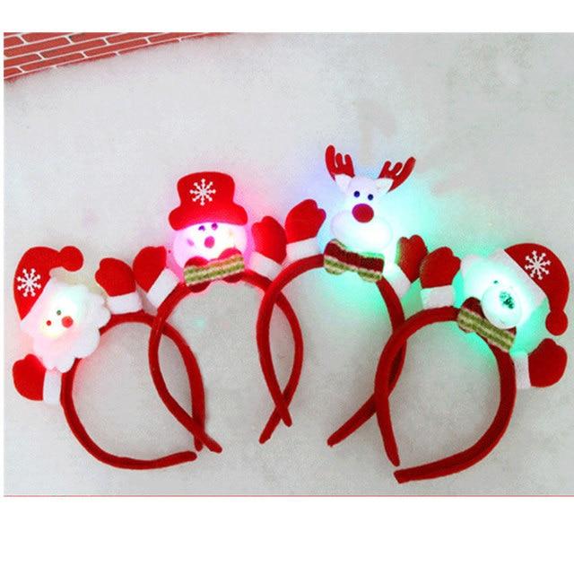 4 stks/partij Kerst Feestartikelen Santa Sneeuwpop Rendier LED ...