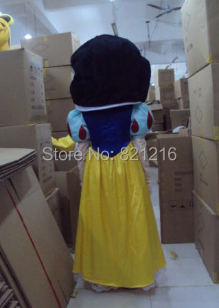 New Snow White Mascot Costume Suit Fancy Dress Cartoon Clothing Adult Size