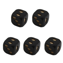 Novelty High Quality Black Resin Skull Dice Six Sided D6 3D Skeleton Board Game for Camping Travell Accessories