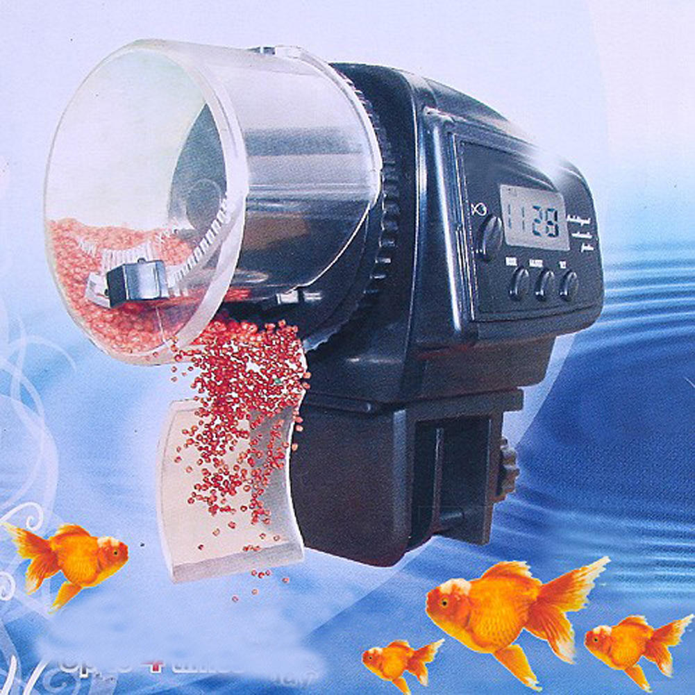 Fish tank feeder - New Digital Lcd Display Automatic Auto Aquarium Tank Pond Fish Feeder Timer Auto Convenient Electronic Food