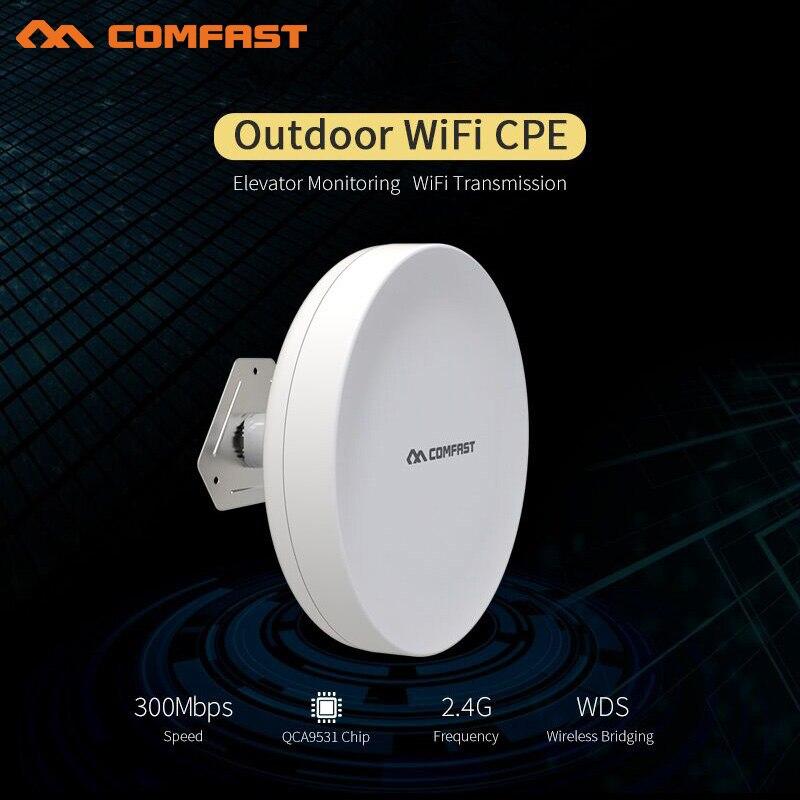 1-2 KM Long Range Extérieure CPE 300 Mbps Sans Fil Point D'accès pont CF-A1 répéteur wi-fi antenne amplificateur wifi nanostation routeurs
