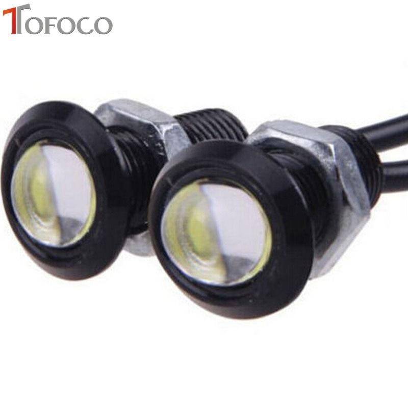 2шт свет Eagle Eye автомобилей стайлинг DIY 18 мм Водонепроницаемый орлиный глаз светодиодные фары дневного/тормозные лампы / Автомобильные фары/парковка