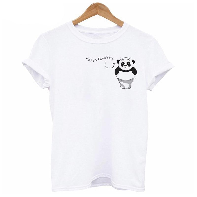 Dabbing Panda 2017 Summer tshirt Women hip hop women cat dog rabbit t shirt white Short girl O-Neck dab T-shirt female WT386