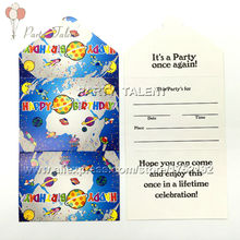 Party supplies 10PCS space and science theme party decoration paper invitation card