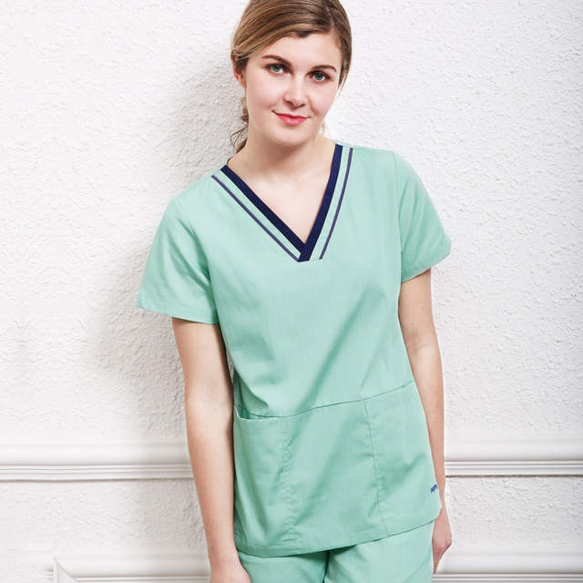 US $42.53 21% OFF|Plus Size Medical Scrubs Uniform Nursing Scrub Sets for  Women Sport Core Stretch Navy Blue Workwear Top and Pant Dentists Nurse-in  ...