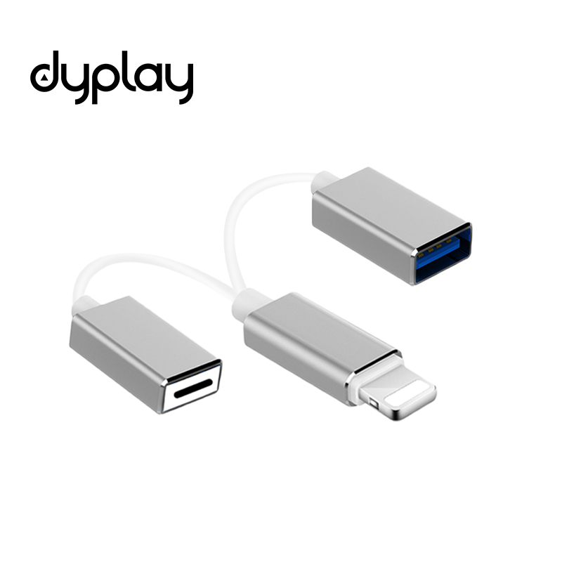 Dyplay для Lightning/USB адаптер OTG кабель зарядки для iPhone iPad iOS 11 фортепиано ми ...