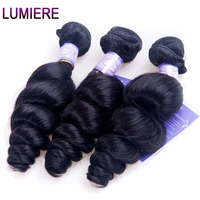 Lumiere Hair Loose Wave Peruvian Hair Weave Bundles 1Piece Only Natural Color Non Remy Hair Human