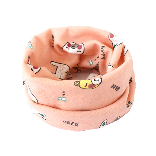 Cartoon Kids Bibs Baby Scarf O Ring Winter Autumn Kids Collars Baby Clothes For Girls Boys Ring Scarves Wraps