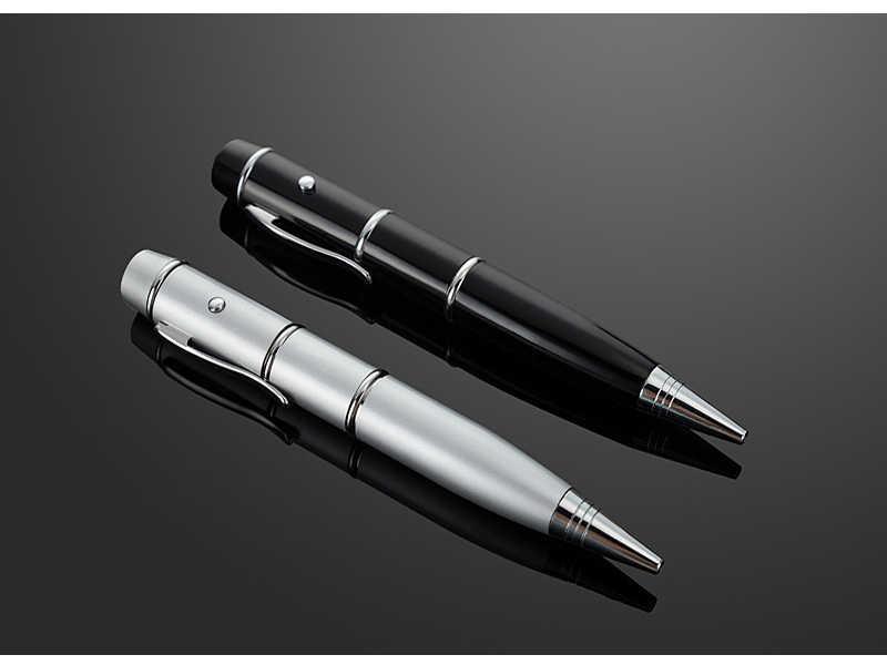 الإضاءة القلم فلاشة مزودة بفتحة يو إس بي محركات مع المصابيح متعددة الوظائف مؤشر ليزر Pendrives 4GB 8gb 16gb 32gb 64GB الليزر الذاكرة محركات القلم