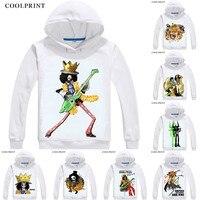 COOLPRINT ONE PIECE Hoodies Anime Hoodie Manga Wan Pisu Straw Hat Pirates Humming Brook Soul King Burukku Cosplay Sweatshirts