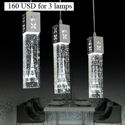 Modern brief bubble clear crystal LED pendant light fixture home deco dining room Paris iron towel inside aluminum pendant lamp furnishings brief modern k9 crystal flower pendant light fixture european fashion home deco living room diy glass pendant lamp