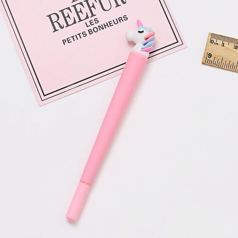 Image 5 - 100 Pcs Korean Cartoon Unicorn Black Signature Pen Student Writes Neutral Pen Office Pen Exam Pen Stationery-in Gel Pens from Office & School Supplies