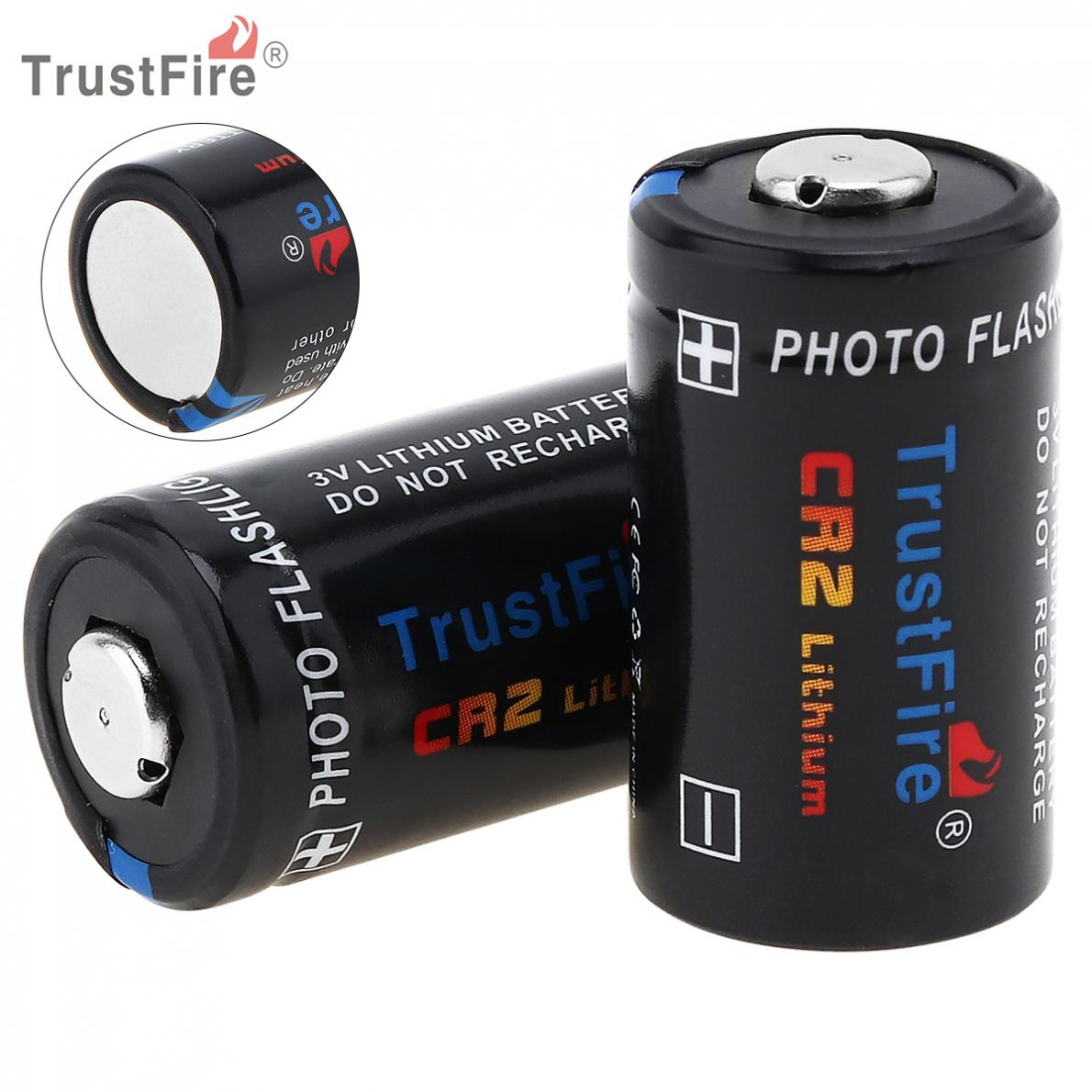 все цены на TrustFire 2pcs CR2 3V 750mAh Lithium Battery with Safety Relief Valve for Flashlight / Headlamp / Camera