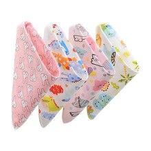 Детские нагрудники, хлопковый передник для кормления, треугольник, милый шарф для мальчиков и девочек