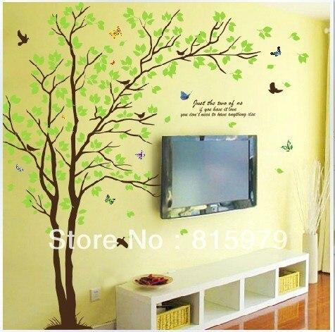 Beberapa Pohon R Tidur Ruang Tamu Tv Latar Belakang Stiker Dinding Dilepas Pengiriman