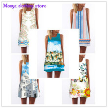 (S-XL)Monya High quality 2016new summer printed Chiffon o-neck novel women's dress Clothes For Pregnant Women Maternity Blouses
