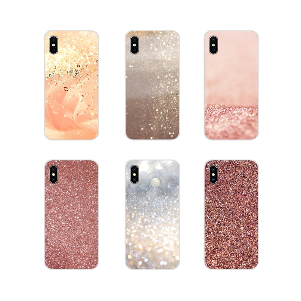 For Apple <font><b>iPhone</b></font> X <font><b>XR</b></font> XS MAX 4 4S 5 5S 5C SE 6 6S 7 8 Plus ipod touch 5 6 Rose Gold <font><b>Glitter</b></font> Accessories <font><b>Phone</b></font> <font><b>Cases</b></font> Covers image