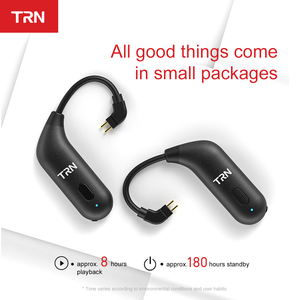 Image 3 - TRN BT20S APTX Bluetooth 5.0 Ear hook MMCX/2Pin Earphones Cable Bluetooth Adapter for VX BA5 IM2 X6 V30 V20 ZS10 F3 T2 S2 V90 M1
