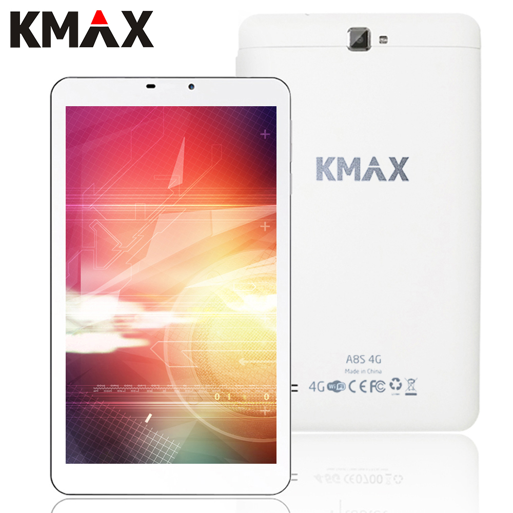 KMAX 4G Phone Tablet PC Android 5 1 8 inch 4G Internet Quad Core MT8735 Tablet
